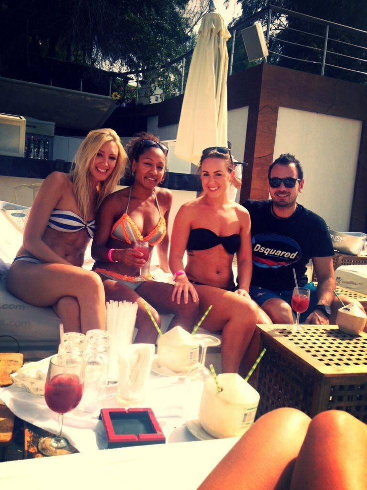 Chilling at Blue Marlin with Lisa & Rami