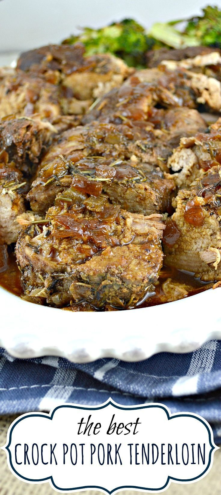 Crock pot pork tenderloin. This recipe makes an incredibly tender, moist,flavorful pork tenderloin with a fabulous pan sauce/gravy. All from scratch-no canned soup!  Order Zaycon Fresh here: https://www.zayconfresh.com/?utm_source=pinterest.com&utm_medium=zaycon&utm_term=8242015&utm_content=post&utm_campaign=139