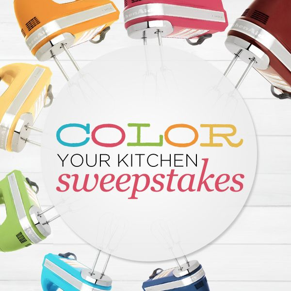 We're giving away 14 KitchenAid Hand Mixers in our #ColorYourKitchen Sweepstakes on Pinterest! Click to enter > http://qvc.co/ColorYourKitchenSweeps