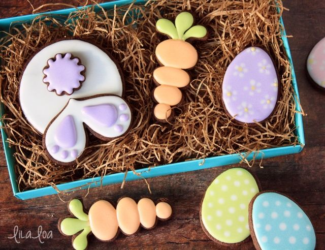 How to make decorated Bunny Bum sugar cookies for Easter -- cookie decorating tutorial