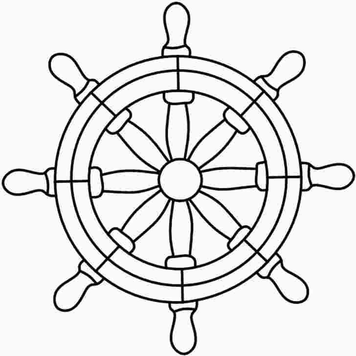 Ship Wheel Coloring Page Stained Glass Patterns Stained Glass