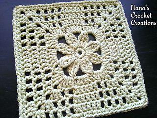 Summer Trellis Square... Free pattern!