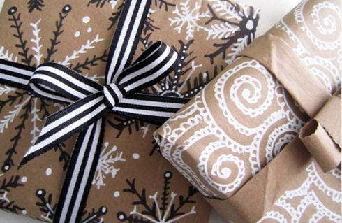 Modern Christmas Wrapping via The Stylesmith #witcherywishlist