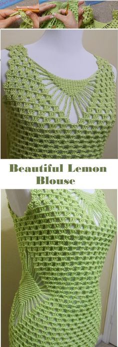 Lemon Blouse Crochet