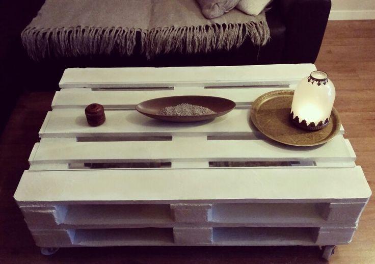 1000 ideas about palette peinture on pinterest crate - Alinea table basse blanche ...