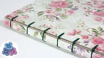 Cómo hacer un libro artesanal. Tutorial de encuadernación   How to make a…