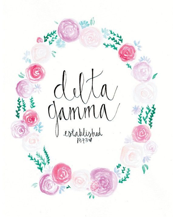 Delta Gamma Sorority Art Print Big Lil Reveal Gift Big