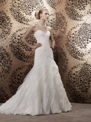 Suknia ślubna Pronuptia Calixte, kolor ivory i biel