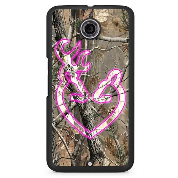Love Browning Deer Camo Google Phonecase For Google Nexus 4 Nexus 5 Nexus 6.Image is printed on aluminum inlay attached to the case. Shell covering the back and