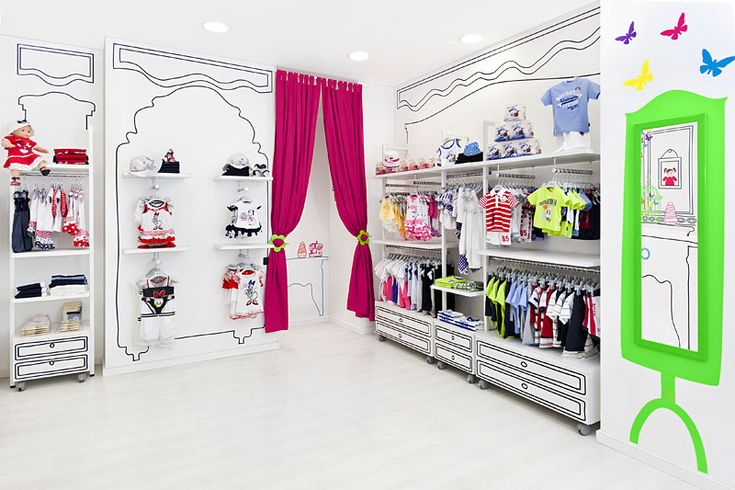 cheap-yet-atractive kids cloting store interior inspiration