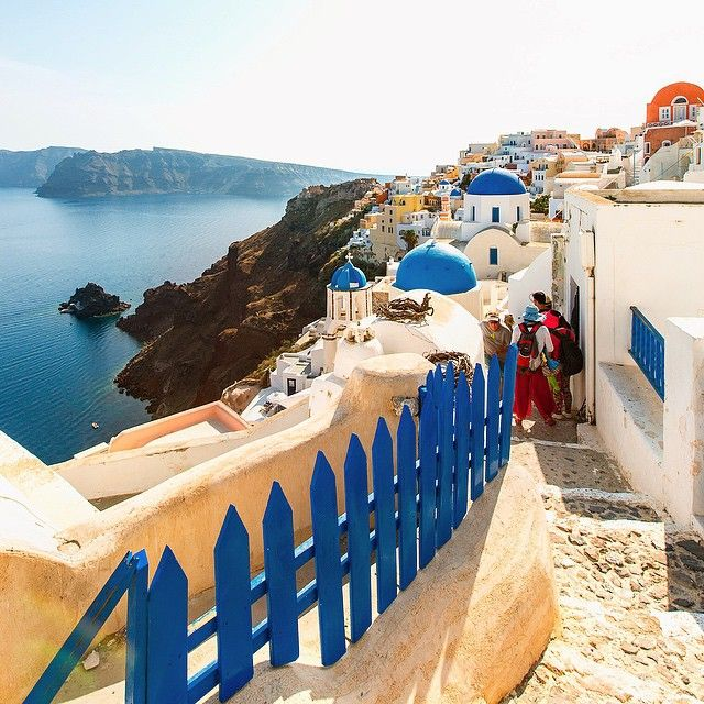 Beautiful #Santorini! #Greece Photo credits: @mustafaseven