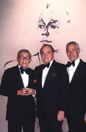 Jack Benny Show, c. 1978. George Burns, Bob Hope, & Johnny Carson. Site has lots of pics from life of Bob Hope