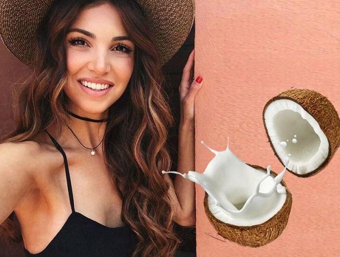Kokosové mlieko na vlasy