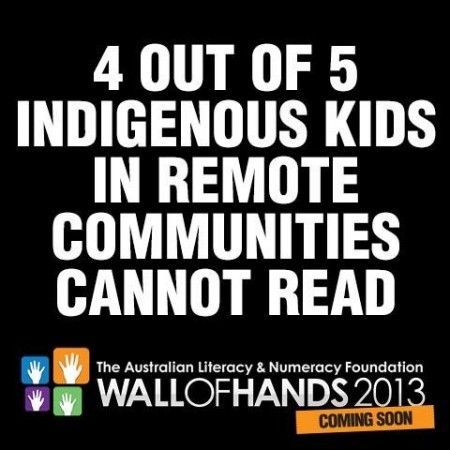 Literacy rates of aboriginals are very low (around 20%)