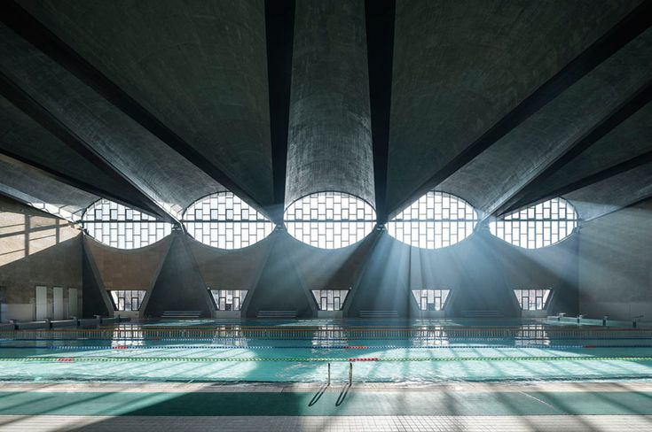 Swimming pool with vaulted roof features in best architecture photograph of 2017
