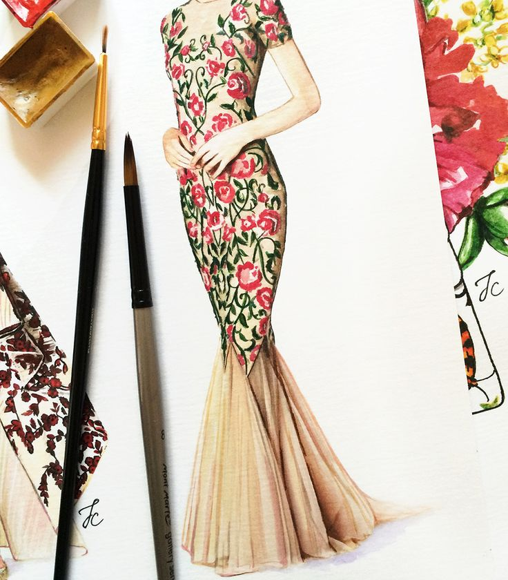 Marchesa Notte illustration by Doll Memories