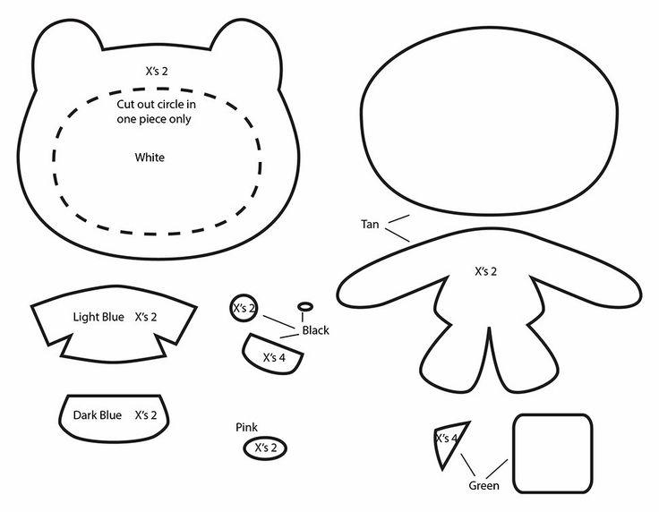 How to Make an Adventure Time Finn plushie template tutorial