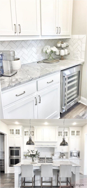 Mar 20 2020 Kitchen Ideas Butlers Pantry With Herringbone Backsplash Tile Best White Kitchen Kitchen Remodel Small Kitchen Cabinets Decor Kitchen Remodel