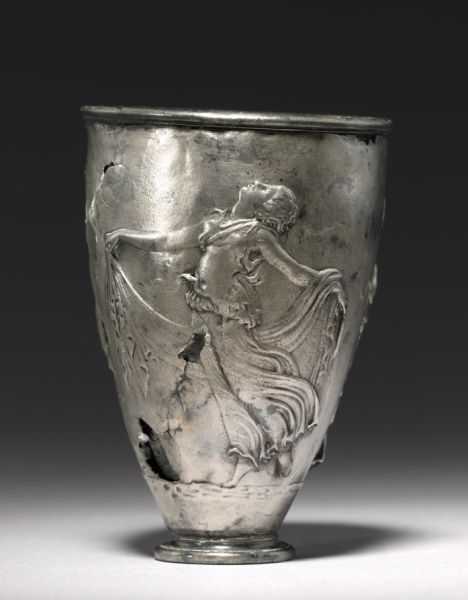 The Vicarello Goblet, late 1st Century BC - early 1st Century                                                Italy, Vicarello (ancient Aquae Apollinares), Roman, Augustan period