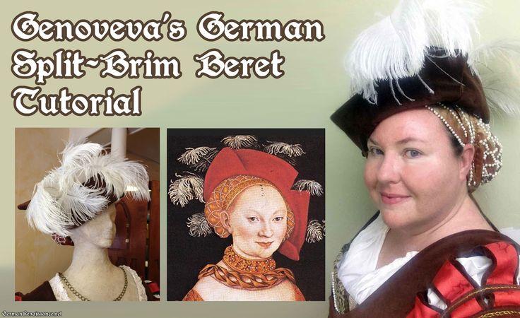 Genoveva's photo tutorial on how to make a German Split-Brim Beret!   GermanRenaissance.net
