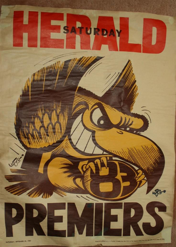 Weg Premiers Poster 1983 Hawthorn Hawks