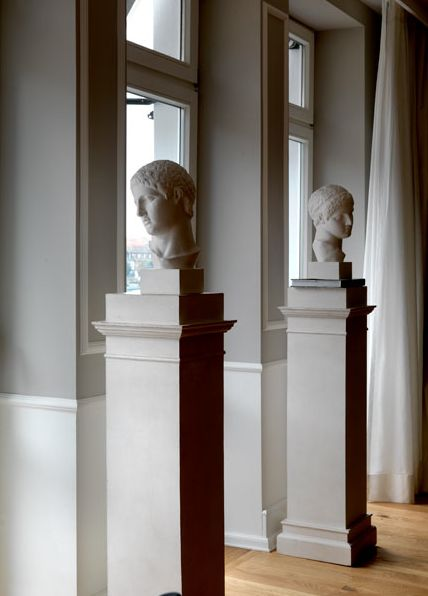 heidelberg suites by Michele Bonan. Busts on columns - always a classic.