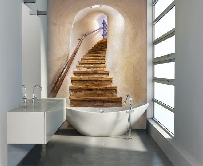 65+ идей 3d обоев на стену в квартире (фото) http://happymodern.ru/3d-oboi-na-stenu-v-kvartiru/ Фотообои в интерьере ванной комнаты
