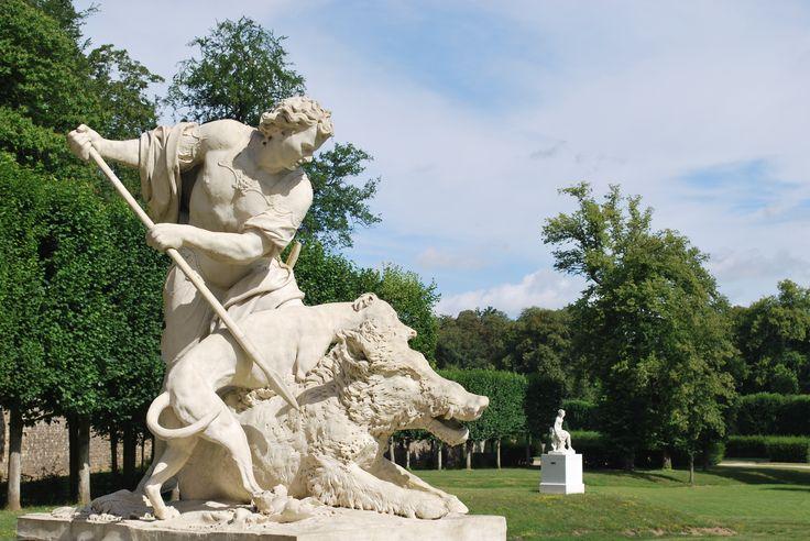 Statues des Méléagres, parc de Marly-le-Roi. Crédit OTPDI