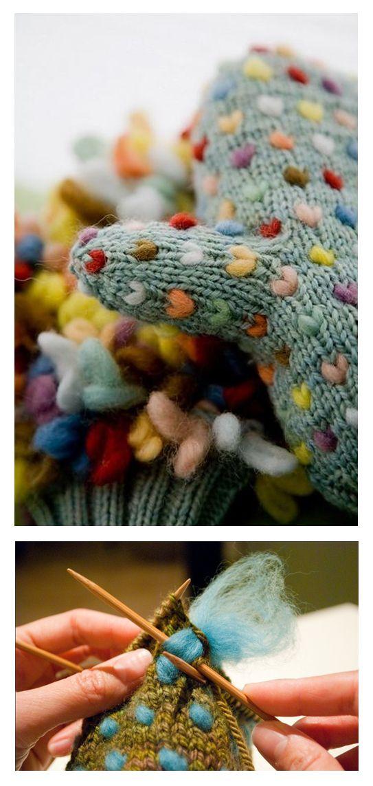 Thrumming - knit technique