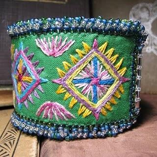 Embroidered cuff