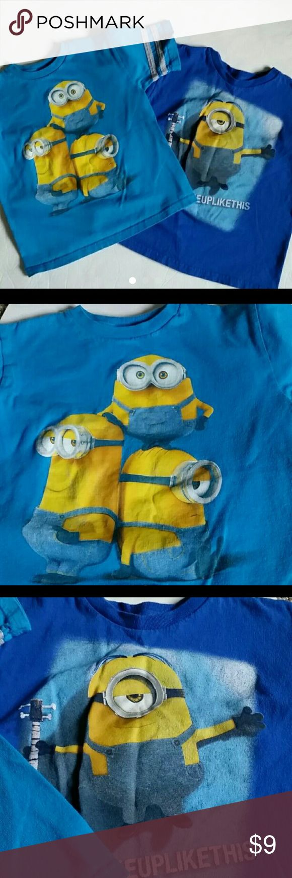 2 minions shirts size 5/6 Very good condition, no tears or obvious spots  SIZE 5/6 I do have bundle discount, other than that all prices are firm! minions  Shirts & Tops Tees - Short Sleeve