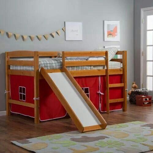 under bed fort hochbett mit rutschekinder etagenbettenloft - Hausgemachte Etagenbetten Mit Rutsche