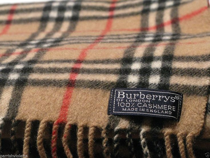 vintage burberrys of london 100 cashmere nova check scarf made in england nice burberry. Black Bedroom Furniture Sets. Home Design Ideas