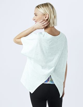In an oversized design with a cross-over V back, our t-shirt from the Spirit of Accessorize collection is the perfect addition to your workout wardrobe thank...