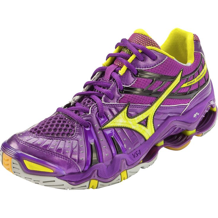 mizuno volleyball shoes | Mizuno Wave Tornado 7 Women\u0027s Volleyball Shoes -  Purple/Yellow
