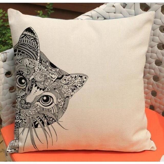 Animal Pillowcases 15 Types Free Shipping Tattoo Decor Pillow
