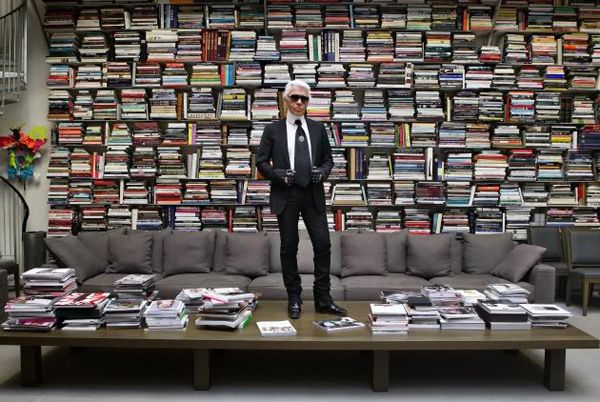 Karl Lagerfeld Library  horizontal and vertical stacking