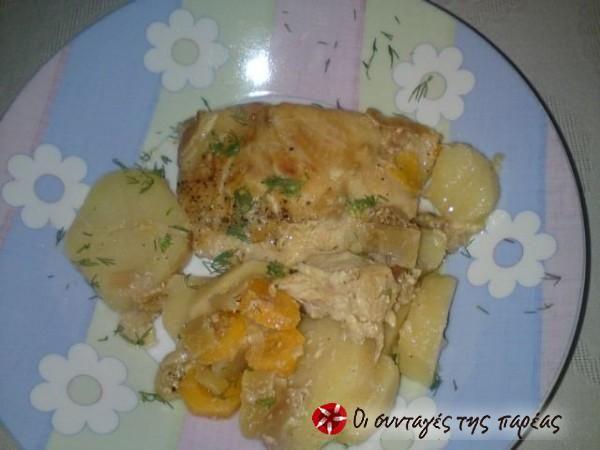 Ψάρι φιλέτο με πράσο στον φούρνο #sintagespareas