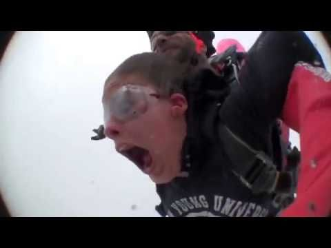 Funniest Tandem Skydiving Video of all Time Share If You Like. haha best skydive video EVER!