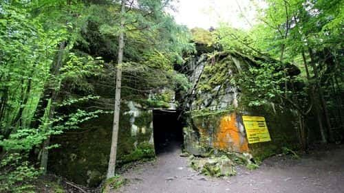 Wolf's Lair - Hitler Headquarters in Poland, Entrance between the rocks