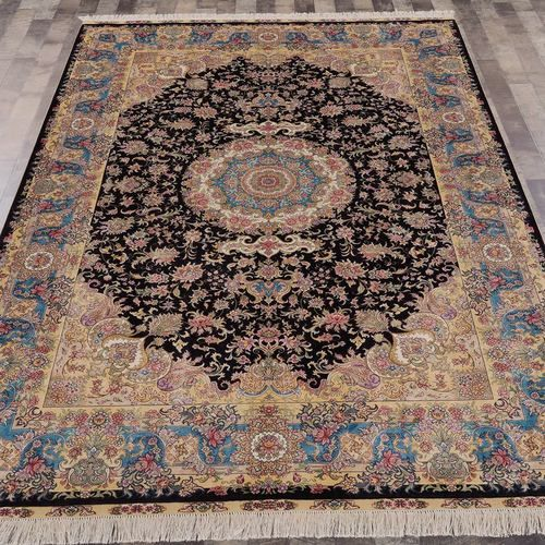 This fine handmade silk carpet is in 50% off now. …