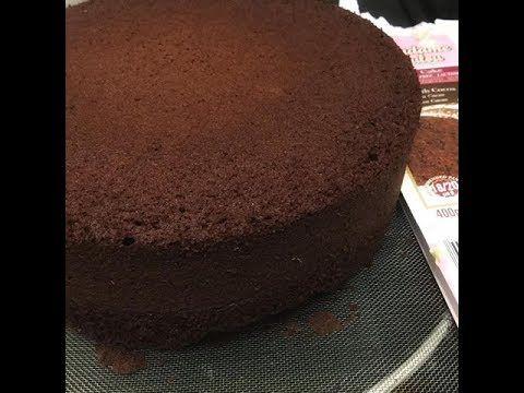 Gluténmentes kakaós piskóta  sütemény alap, sütő előtt