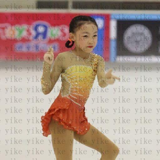 kids ice skating dresses girls competition figure skating clothing custom yike #yike