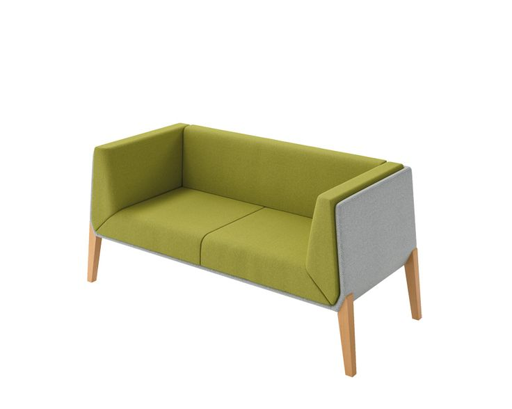 Still life of Accord 2 seater sofa Chrome/white steel or natural varnished beech feet