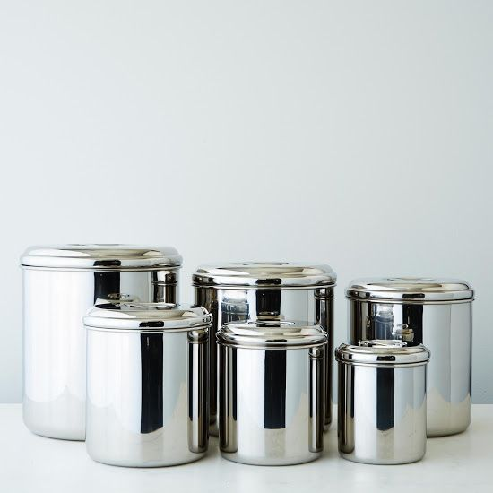 Stainless Steel Canisters (Set of 6)