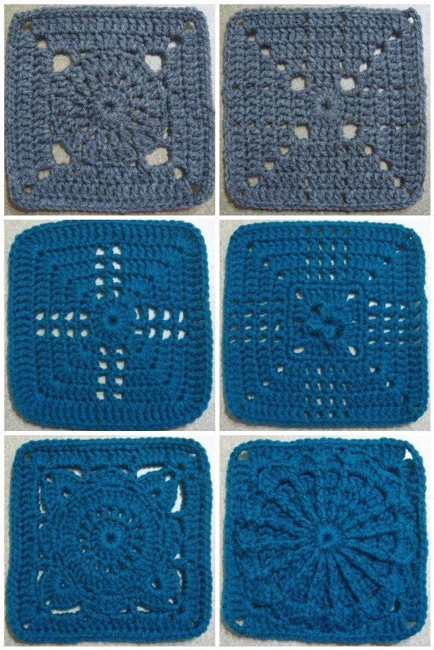 365 Granny a day project done by The Jewell's Handmade - Photos and Links to lots of FREE crochet afghan squares!!!