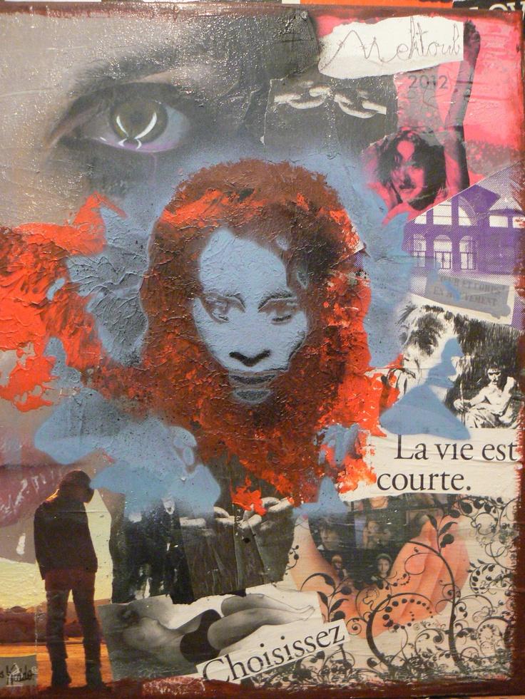 17 Best images about Peinture à la bombe & collage on