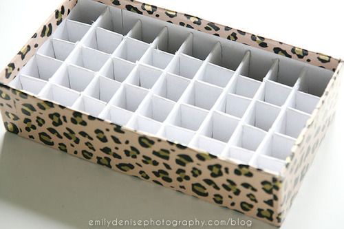 DIY lipstick holder! Take a look at my blogpost to find out...