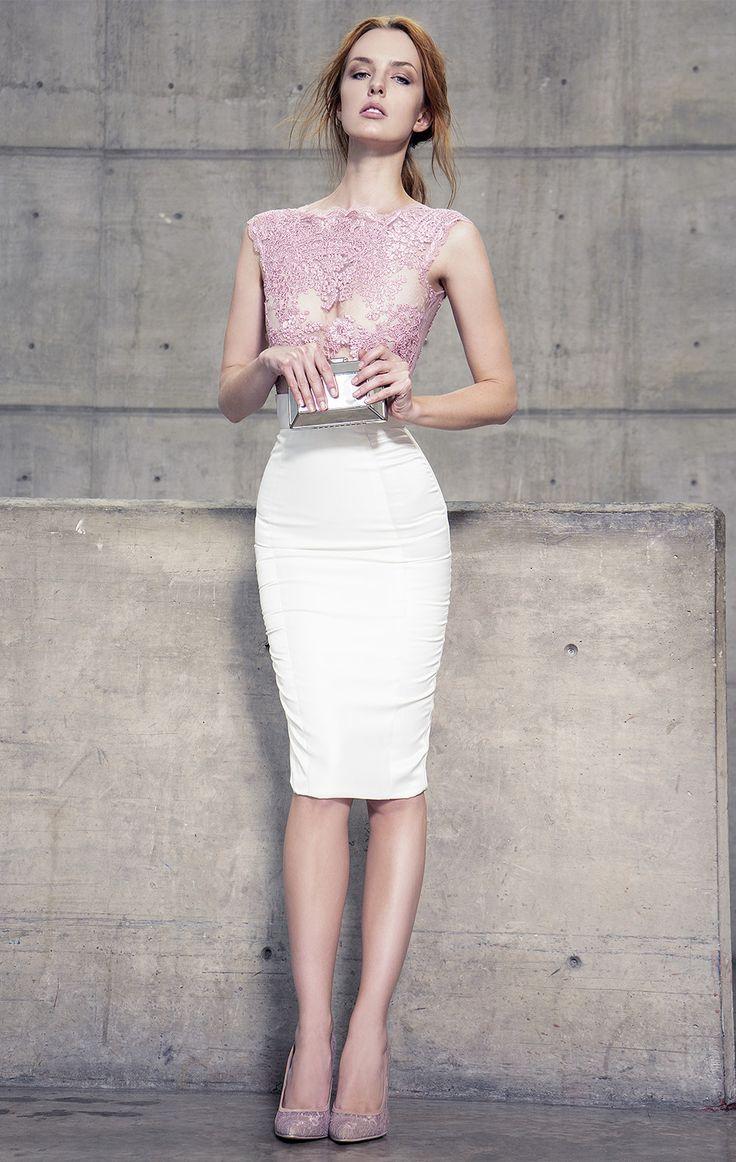 Best 25 vestido rosa palo corto ideas on pinterest - Color rosa palo ...