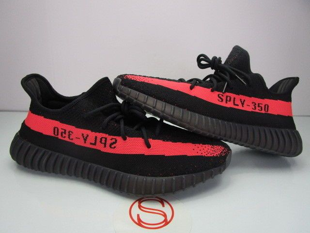 5bac9dbe1d2 Details about Adidas Yeezy Boost 350 V2 Blue Tint Grey Red B37571 ...